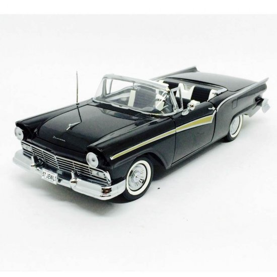Ford: Fairlane 500 Skyliner (1957) - Preto - 1:18 - Sun Star