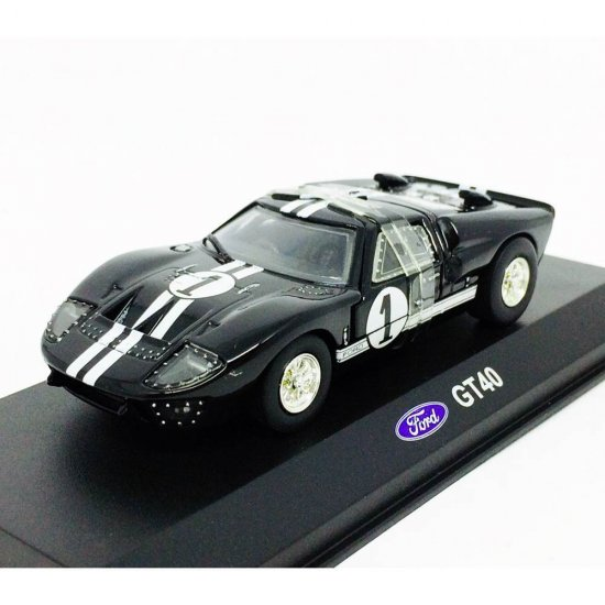 Ford: GT40 - Preto - 1:43 - Unique Replicas