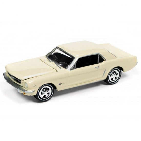 Miniatura Carro Ford Mustang (1965) - Muscle Cars U.S.A - 2016 Series - Bege - 1:64 - Johnny Lightning