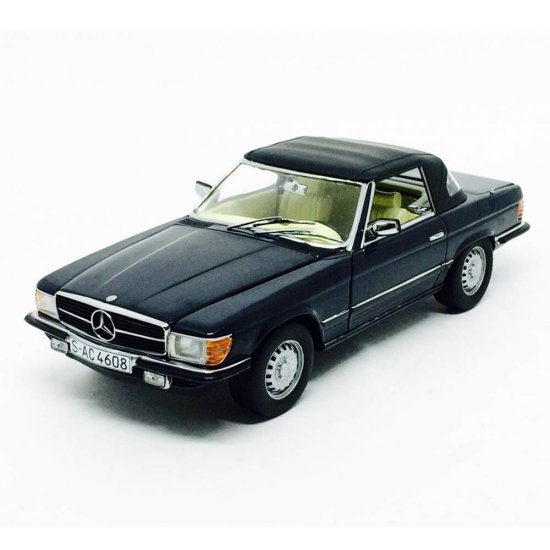 Mercedes Benz: 350 SL (1977) Closed Convertible - Preto - 1:18 - Sun Star
