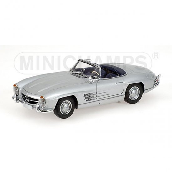 Mercedes Benz: 300 SL Roadster (1957) - Prata - 1:18 - Minichamps