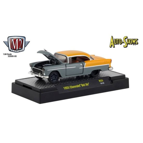Miniatura Carro Chevrolet Bel Air (1955) - Auto-Shows - 1:64 - M2 Machines