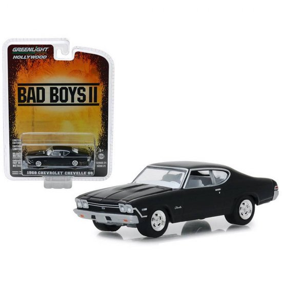 Miniatura Carro Chevrolet Chevelle SS (1968) - Bad Boys II - Hollywood - 1:64 - Greenlight