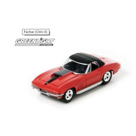 Miniatura Carro Chevrolet Corvette (1967) - Zine Machines - Série 2 - 1:64 - Greenlight
