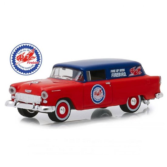 Miniatura Carro Chevrolet One Fifty Sedan Delivery (1955) - Pure - Running On Empty - Série 7 - 1:64 - Greenlight