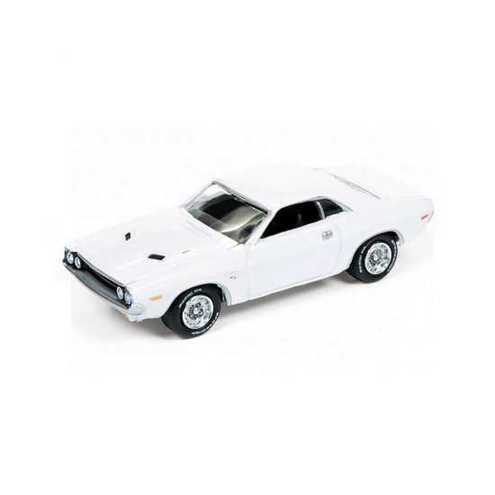 Miniatura Carro Dodge Challenger R/T (1970) - Muscle Cars U.S.A - Branco - 1:64 - Johnny Lightning
