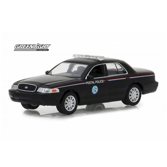 Miniatura Carro Ford Crown Victoria Police Interceptor (2010) - USPS - Exclusive - 1:64 - Greenlight