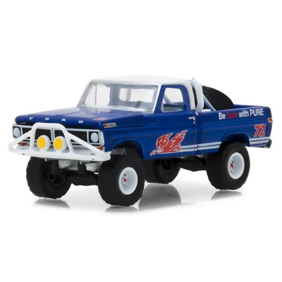 Miniatura Picape Ford F-100 (1972) - Blue Collar Collecction - Série 4 - 1:64 - Greenlight