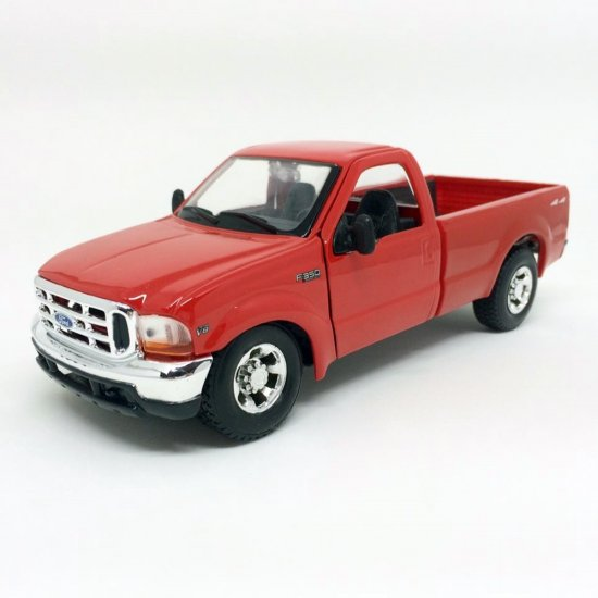 Miniatura Carro Ford F-350 Super Duty Pickup (1999) - Vermelha - 1:27 - Maisto