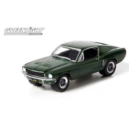 Miniatura Carro Ford Mustang GT (1968) Bullitt - Hollywood 1:64 - Greenlight