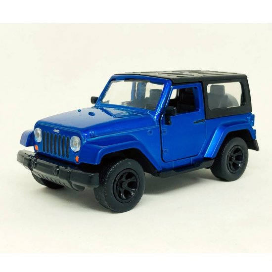Miniatura Carro Jeep Wrangler (2014) - Azul - Just Trucks - 1:32 - Jada Toys