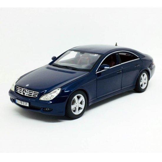 Miniatura Carro Mercedes Benz CLS Class   Azul Escuro   1:18   Maisto