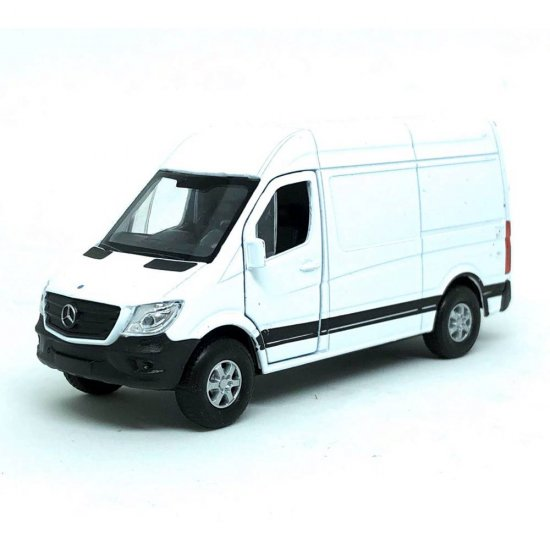 Miniatura Carro Mercedes Benz Sprinter Panel Van - Branco - 1:39-45 - Welly