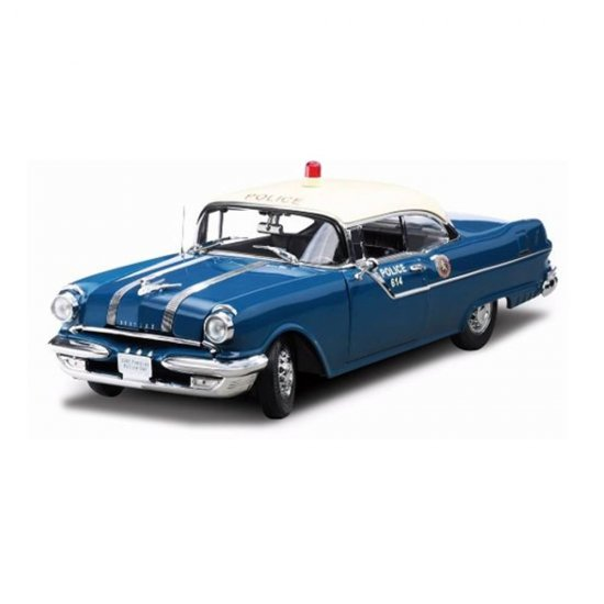 Miniatura Carro Pontiac Star Chief Police Car (1955) - 1:18 - Sun Star