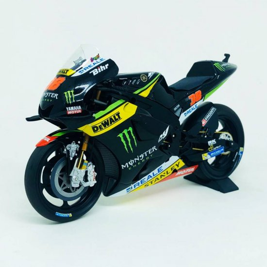 Miniatura Moto Yamaha YZR-M1 - Monster Yamaha Tech 3 - #38 B. Smith - MotoGP (2016) - 1:12 - Minichamps