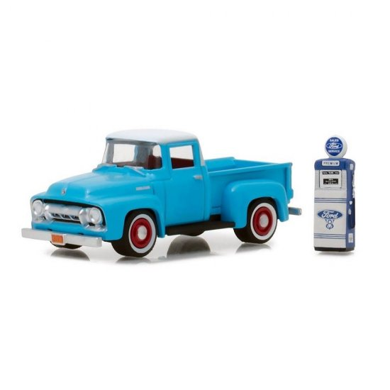 Miniatura Picape Ford F-100 (1954) c/Gas Pump - The Hobby Shop - Series 3 - 1:64 - Greenlight