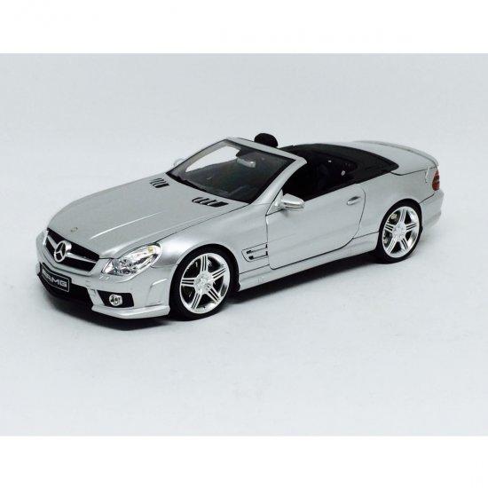 Mercedes Benz: SL63 AMG   Prata   1:18   Absolute Hot