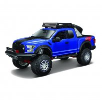 Imagem - Miniatura Picape Ford F-150 Raptor (2017) - Azul - OFF Road Kings - 1:24 - Maisto Design