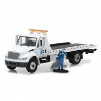 Imagem - Miniatura Caminhão USPS International Durastar Flatbed - United States Postal Service - HD Trucks 11 - 1:64 - Greenlight