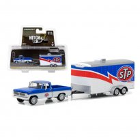 Imagem - Miniatura Picape F-100 c/ Trailer STP Racing - Hitch & Tow - Série 12 - 1:64 - Greenlight