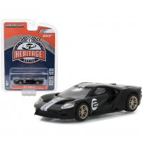 Imagem - Miniatura de Carro Ford GT #2 (2017) - Preto - Heritage Racing - 1:64 - Greenlight