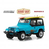 Imagem - Miniatura Carro Jeep Wrangler YJ (1987) c/ Prancha de Surf - The Hobby Shop - Series 2 - 1:64 - Greenlight