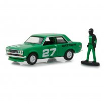 Imagem - Miniatura Carro Datsun 510 #27 (1970) c/ Figura - The Hobby Shop - Series 5 - 1:64 - Greenlight