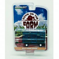 Imagem - Miniatura Complemento Agrícola - Bale Throw Wagon - Down On The Farm - Serie 2 - 1:64 - Greenlight (Chase / Green Machine)
