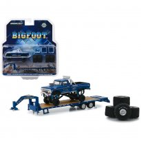 Imagem - Miniatura Pickup Ford F-250 c/ Reboque Prancha - Bigfoot - 1:64 - Greenlight Collectibles