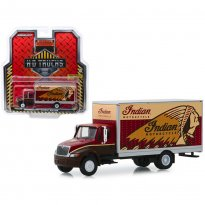 Imagem - Miniatura Caminhão International Durastar Box Van - Indian Motorcycle - HD Trucks - Série 17 - 1:64 - Greenlight