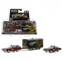 Imagem - Set Miniatura Carro Pontiac LeMans Safari (1977) & Pontiac LeMans (1977) c/ Trailer - Sheriff - Smokey And The Bandit - Série 7 - 1:64 - Greenlight