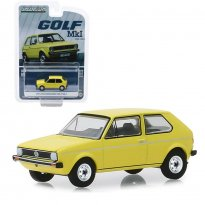 Miniatura Carro Volkswagen Golf MK1 (1974) - Amarelo - 1:64 - Greenlight