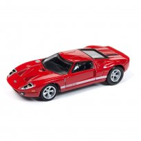 Miniatura Diorama Ford GT (2005) - Cars n Coffee - 1:64 - Johnny Lightning
