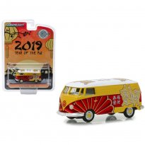 Imagem - Miniatura Carro Volkswagen Panel Van / Kombi - 2019 Year Of The Pig - 1:64 - Greenlight Collectibles