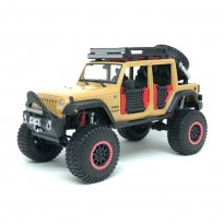 Imagem - Miniatura Carro Jeep Wrangler Unlimited (2015) - Creme - OFF Road Kings - 1:24 - Maisto Design