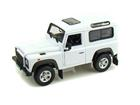 Miniatura Carro Land Rover Defender - Branco - 1:24-27 - Welly