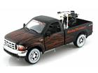 Imagem - Miniatura Picape Ford F-350 (1999) - 1:27 c/ Moto HD FXSTB Night Train 2002 - 1:24 - Maisto