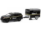 Miniatura Carro Ford Interceptor Utility c/ Trailer (2014) - 1:64 - Greenlight