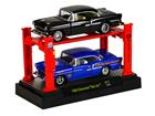 Imagem - Set Miniatura Chevrolet Bel Air (1955) - Preto/ Azul - 1:64 - Auto Lift - M2 Machines