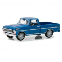 Imagem - Miniatura Picape Ford F-100 (1970) - Azul - 1:43 - Greenlight Collectibles
