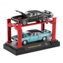 Imagem - Set Miniatura Dodge Super Bee Hemi (1970) - Preto / Azul - 1:64 - Auto Lift - M2 Machines