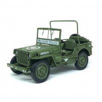 Imagem - Miniatura Carro Jeep Willys - Verde Militar - The Greatest Generation - 1:18 - Auto World