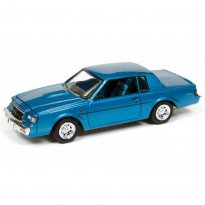 Imagem - Miniatura Carro Buick Regal T-Type (1986) - Racing Champions Mint - 2017 Series - Azul - 1:64 - Johnny Lightning