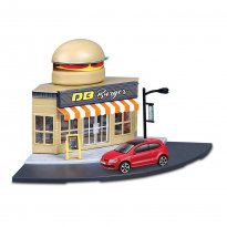Imagem - Cenário Fast Food c/ Volkswagen Polo GTI Mark 5 - Build Your City - 1:43 - Burago