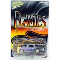 Imagem - Chevrolet: Bel Air (1957) - Flames The Series - 1:64 - Johnny Lightning