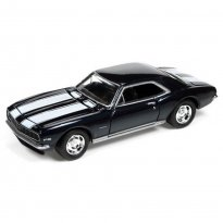 Imagem - Miniatura Carro Chevrolet Camaro Z28 (1967) - Muscle Cars U.S.A - 2016 Series - Azul -  1:64 - Johnny Lightning