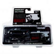 Imagem - Set Miniatura Dodge Charger R/T (1968) / Dodge Ram 2500 (2016) c/ Trailer - Steve McQueen Bullitt - Hitch & Tow Hollywood - Series 2 - 1:64 - Greenlight