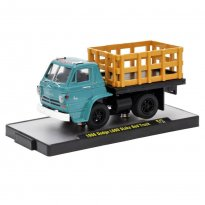 Imagem - Miniatura Carro Dodge L600 Stake Bed Truck Pickup (1966) Verde - Auto Trucks - 1:64 - M2 Machines