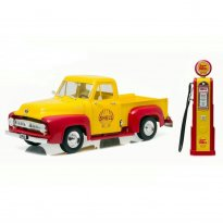 Imagem - Miniatura Carro Ford F-100 Pickup - c/ Bomba de Gasolina (1953) - Shell - 1:18 - Greenlight