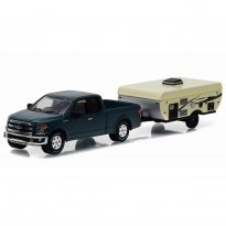 Imagem - Miniatura Carro Ford F-150 c/ Camper Trailer (2015) - Hitch & Tow - Series 8 - 1:64 - Greenlight